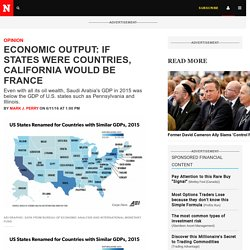 Economic Output: If States Were Countries, California Would Be France