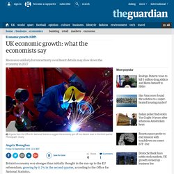 UK economic growth: what the economists say