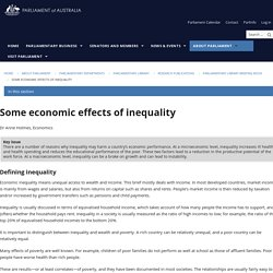 Some economic effects of inequality