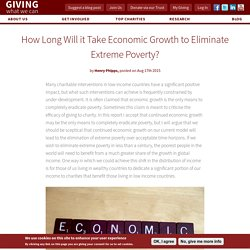 How Long Will it Take Economic Growth to Eliminate Extreme Poverty?