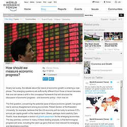 Economic growth: how should we measure it Forum:Blog