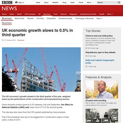 UK economic growth slows to 0.5% in third quarter - BBC News