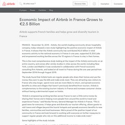 Economic Impact of Airbnb in France Grows to €2.5 Billion