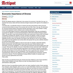 Economic Importance of Drones
