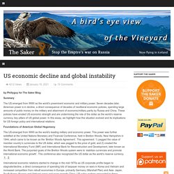 US economic decline and global instability