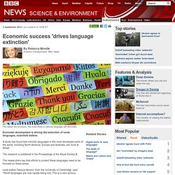 Economic success 'drives language extinction'