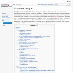 Economic League - Powerbase