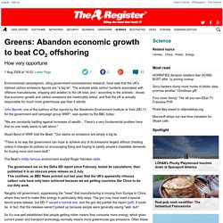 Greens: Abandon economic growth to beat CO2 offshoring