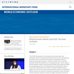 World Economic Outlook, April 2020: The Great Lockdown