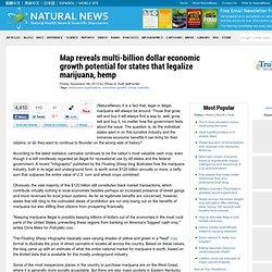 Map reveals multi-billion dollar economic growth potential for states that legalize marijuana, hemp