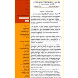 Economic Principals » Blog Archive » Economics in the Next Ten Years?