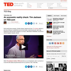 An economic reality check: Tim Jackson on TED