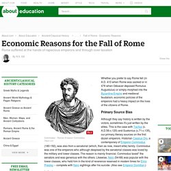 Economic Reasons for the Fall of Rome