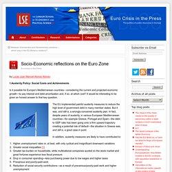 Euro Zone Socio-Economic Reflections