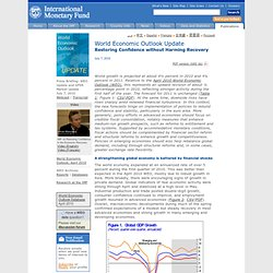 World Economic Outlook (WEO) Update -- Restoring Confidence with