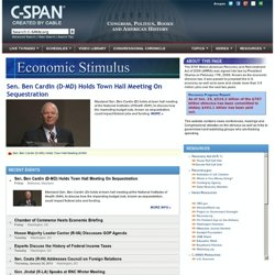 Economic Stimulus - C-SPAN