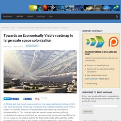 Economically Viable Large Scale Space Colonisation Gets Closer