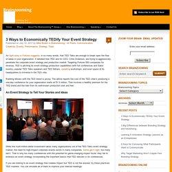 3 Ways to Economically TEDify Your Event Strategy