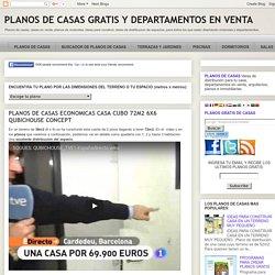 PLANOS DE CASAS ECONOMICAS CASA CUBO 72M2 6X6 QUBICHOUSE CONCEPT : PLANOS DE CASAS GRATIS Y DEPARTAMENTOS EN VENTA
