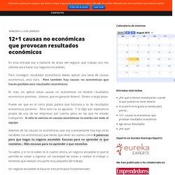 12+1 causas no económicas que provocan resultados económicos