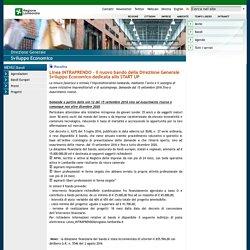 Linea INTRAPRENDO - Il nuovo bando della Direzione Generale Sviluppo Economico dedicata allo START UP