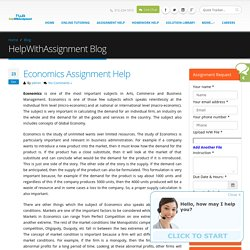 What to Look for Economics Assignment Help
