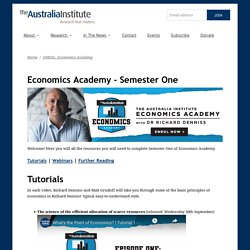 Economics Academy - Semester One - The Australia Institute