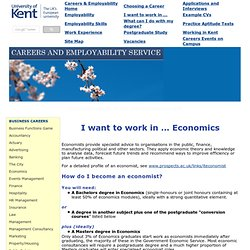 Economics Careers