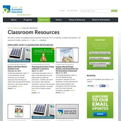 Economics Lesson Plans and Classroom Resources by CEE