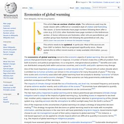 Economics of global warming
