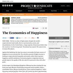 The Economics of Happiness - Jeffrey D. Sachs