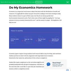 Do My Economics Homework For Me
