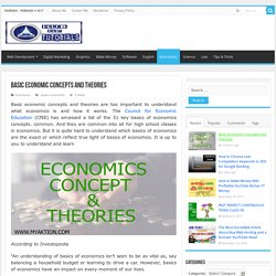 Basics of Economics Included History Concept Theories and Thought