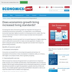 Does economics growth bring increased living standards?