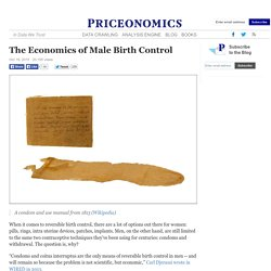The Economics of Male Birth Control