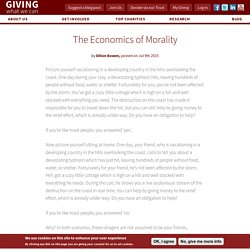 The Economics of Morality