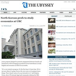 North Korean profs to study at UBC | The Ubyssey