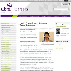 Health Economics and Outcomes Research Manager - ABPI Careers