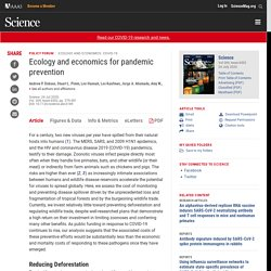 Ecology and economics for pandemic prevention