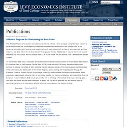 Publications | Levy Economics Institute of Bard College