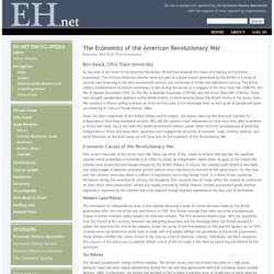 The Economics of the American Revolutionary War
