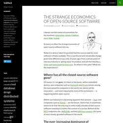 The strange economics of open-source software - Vallified
