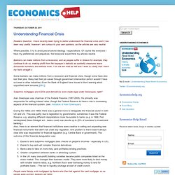 Economics Essays: Understanding Financial Crisis