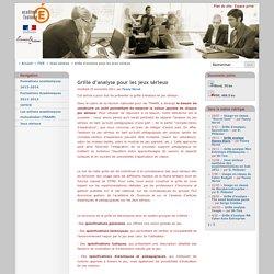 Grille d'analyse pour les jeux sérieux - Économie Gestion - Académie de Toulouse