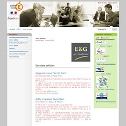 Jeux sérieux - Économie Gestion - Académie de Toulouse