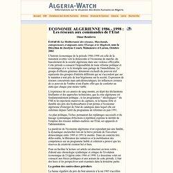 Economie algérienne 1986-1998: Les réseaux aux commandes de l'Etat