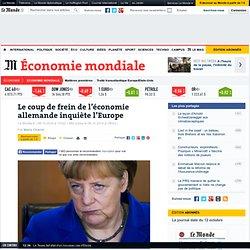 Le coup de frein de l'économie allemande inquiète l'Europe