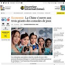 Economie. La Chine s'ouvre aux trois géants des consoles de jeux
