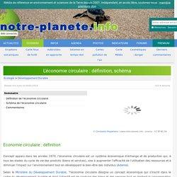 L'économie circulaire : définition, schéma - notre-planete.info