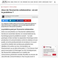 Abus de l'économie collaborative : où est le problème ?